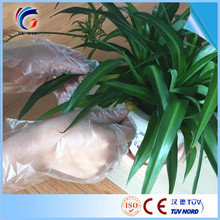 plastic yellow gloves with low price