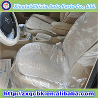 2015 new product full set plastic disposable car seat cover/waterprt covers with transparent coloroof sea