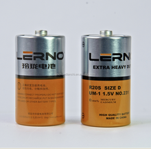 D/C/AA/AAA 1.5V battery in china metal jacket Dry Cell Manganese Battery Battery