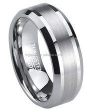 Popular Matt finish Tungsten rings jewelry