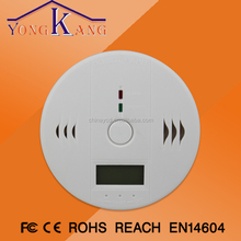 Yongchangda LCD display CO Carbon Monoxide Poisoning Sensor Monitor Alarm Detector Home Alarm Operated Smoke and Co Detector