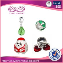 hot sale 925 sterling silver beads charm Wholesale European Beads silver charms and glass beads charm