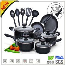 Newest Aluminium non stick kitchen accessories with Different sizes with Nylon Spatula