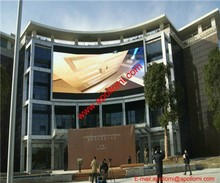 outdoor video arc curve led wall for advertising commercial business P6mm