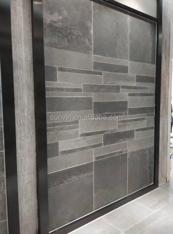 60x60cm, 60x30cm grijze kleur cement serie anti  slip badkamer en ...