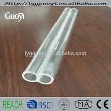 clara tubo de cuarzo con dos agujeros