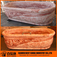 Red blood portable bathtub with standard sizes