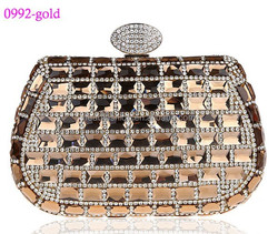 0992-gold rhinestone clutch bag for party