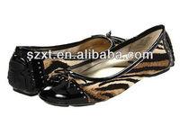 Sexy women flat shoes flat lady shoes manufacture leopard flats women shoes flats