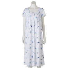 women's floral print cotton polyester blend nightgown