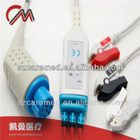 Round 10 Pin 3 Leads Patient Monitor ECG Cable Schiller