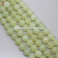 Green jade rough Natural new jade round beads jewelry green jade stone