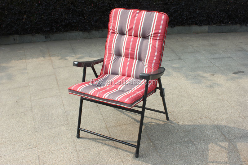 high quality steel padded folding chair with plastic