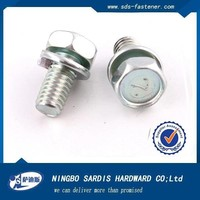 China manufacturer&exporter&supplier pan head combination screw, screws with washer attached