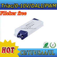 High power 12v/24v constant voltage dimmable led driver