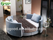 Modern cheap fabric round bed OBYY001
