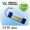 size 6*41*85mm 7.4V 2300mAh Recharagebale Li-polymer battery pack for Printer