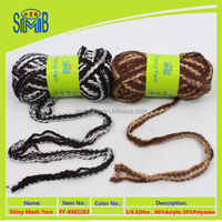 factory direct sale good quality acrylic glitter mesh yarn for hand knitting