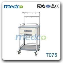Mobile hospital clinic infusion cart trolley made in China T075