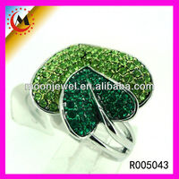 GREEN LEAF DIAMOND RING