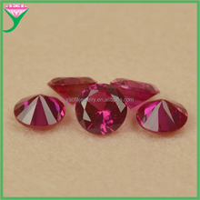 AAA Grade Oxide mineral round brilliant cut 5# ruby 1 carat price
