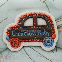 handmade embroidery car logo patch/car embroidery patches