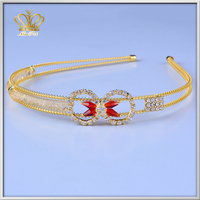 2015 Wholesale gold plated crown hair comb head piece hair accessories tiaras