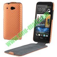 Carbon Fiber Pattern Leather Case cover for htc desire 601 Zara 619D