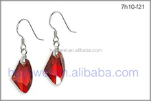 19mm red magma austrian crystal earrings alibaba fashion jewelry 925 silver