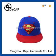 Acrylic snapback caps wholesale 3D embroidery super man snapback cap