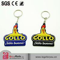 New style wholesale soft pvc key chain custom