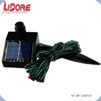 LIDORE 2015 Innovative Products 50L mini Christmas holiday decoration color LED solar string light