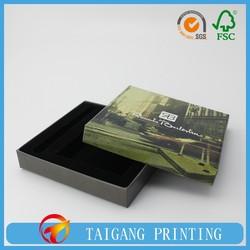 Luxury black eco high grade packaging box