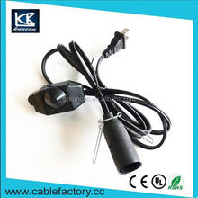 New products on china market lamp socket with power cord ul table lamp power cord