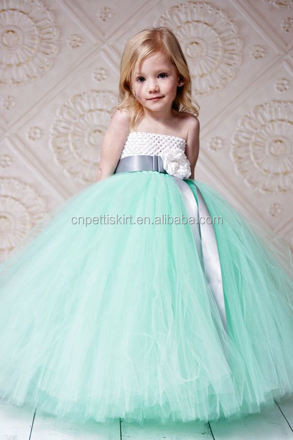 Koya Baby Girl Wedding Dress Kids Tutu Skirt One Piece Pure White ...