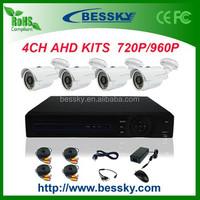 2015 Real Color Night Vision 4 CH 1080P AHD DVR 4*960 AHD Camera Top 10 CCTV Camera Kit