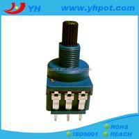 jiangsu 17mm high power rotary 5k micro dimmer potentiometer with switch