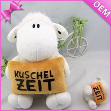 15cm Sitting Holding a Pillow Soft Plush Lambs, Stuffed Toy Lamb, Stuffed Baby Lamb Toy