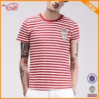 Alibaba china bulk wholesale clothing/striped man tee shirt