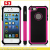 China manufacturer 2 IN 1 Football grain Pattern Silicone PC case for iPhone5, for iPhone5 case 10 colors in stock