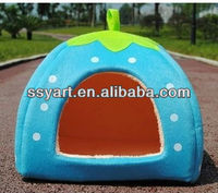2013 High Quality ~Strawberry Sponge Pet House Bed Cat Dog Kennel Warm Cushion Basket