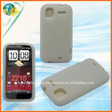 For HTC Z715 Accept Paypal clear white Soft silicone cell phone skin