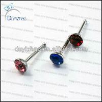 fashion diamond nose pin designs unique nose ring body piercing jewelry