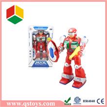2015 mini plastic toys Robot with light & music,turning robot