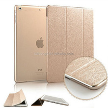 Luxury Silk Leather Stand Cover +Matte Back Case for ipad air 2/For ipad 2 3 4/For ipad mini 1 2 3