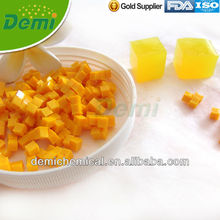 Yellow cubic crystal soils for decoration