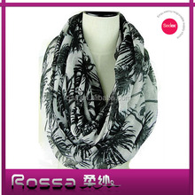 2015 New printed pattern fashion polyester lady scarf