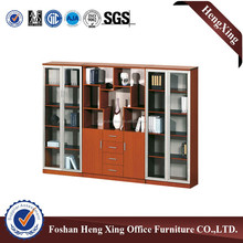 Hot Sale Affordable file cabinet, office cabinet design with glass and wood mixing HX4907