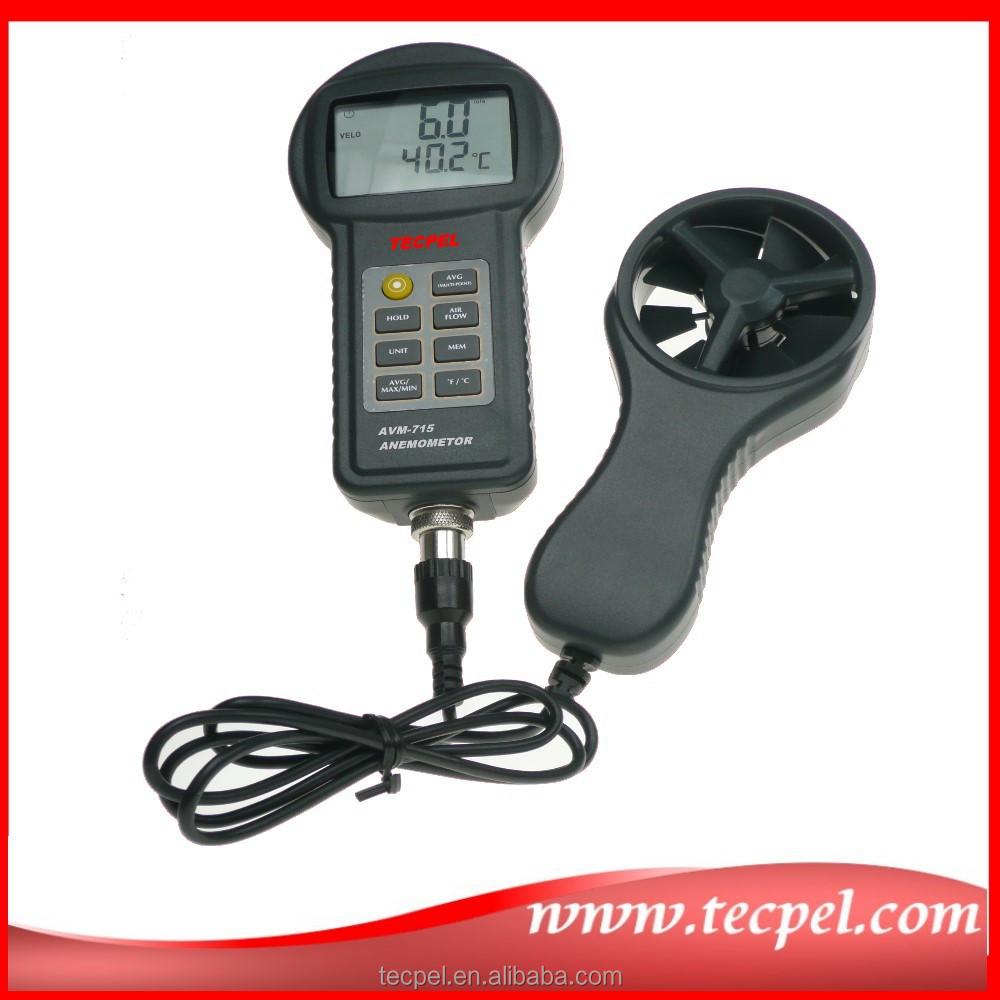 AVM-715 Air flow velocity meter Digital Temperature Anemometer