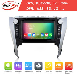 2015 HuiFei Brand Quad-core Car DVD For Toyota Camry 2012 Double Din 16GB Nand Car Multimedia